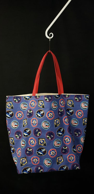 NASA Shuttle Reusable Gusseted Market Bag