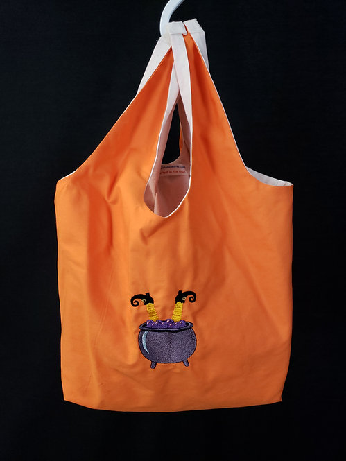 Witch in the Cauldron Reusable Shopping Bag
