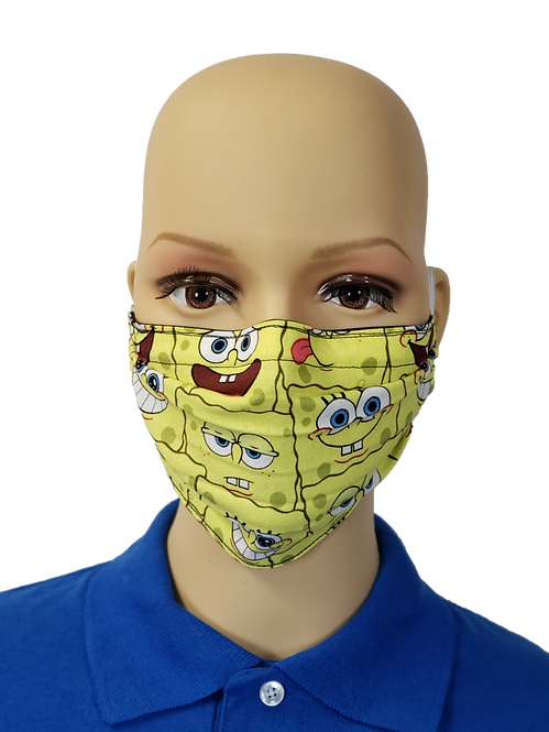 Cloth Face Covering made from Spongebob Fabric
