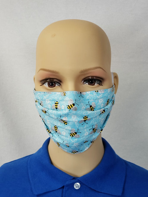 Glitter Bees Cloth Face Covering