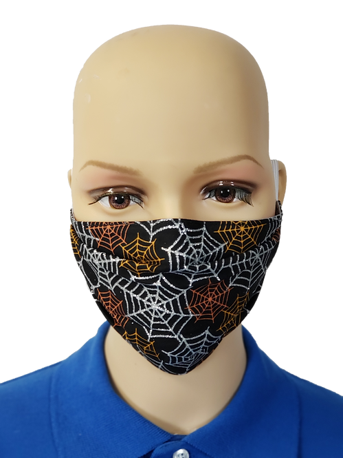 Glitter Spiderwebs Cloth Face Covering