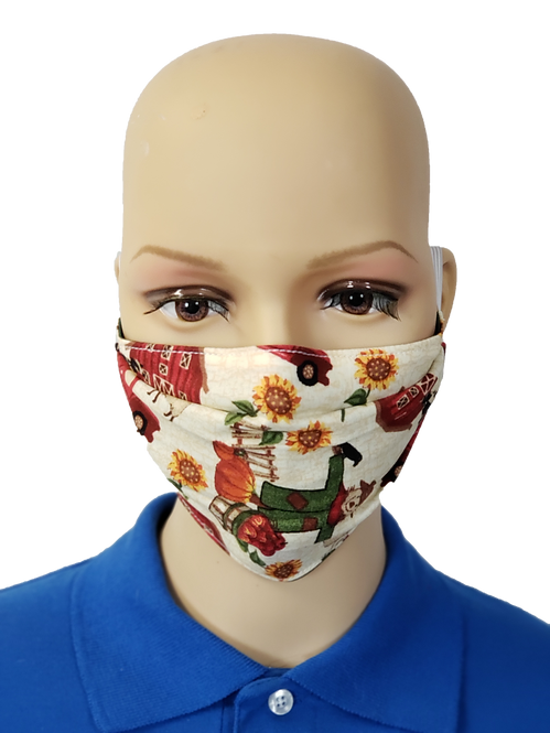 Fall on the Farm Cloth Face Covering