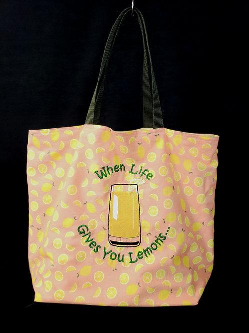 Life Gives You Lemons Reusable Gusseted Market Bag