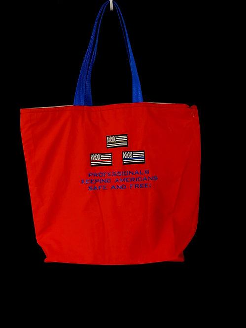 Professionals Keeping Us Safe Reusable Gusseted Market Bag