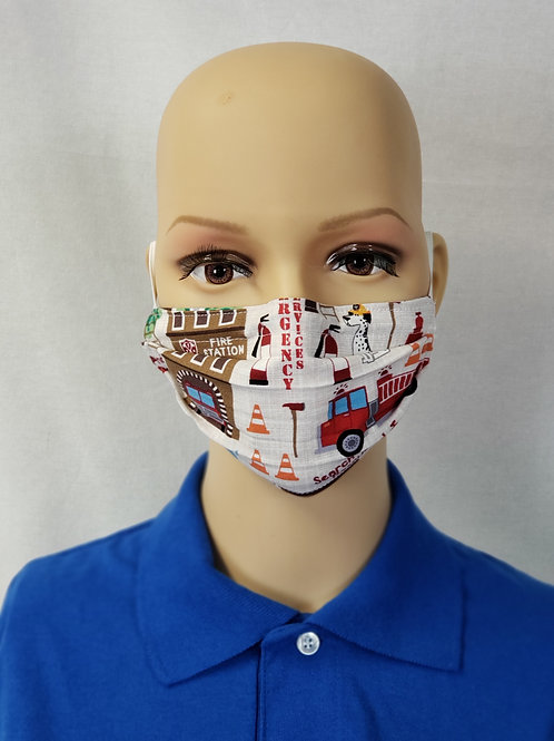 Search and Rescue Fire Kids Cloth Face Covering