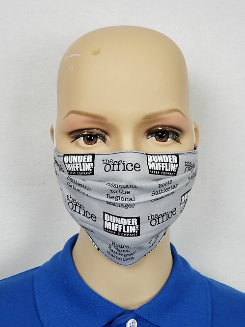 Cloth Face Covering made from Dunder Mifflin fabric