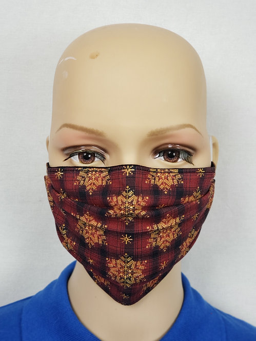Snowflake Plaid Cloth Face Covering