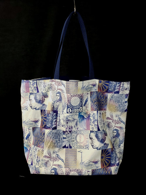 Japanese Art Reusable Gusseted Market Bag