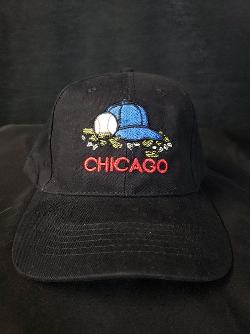 Blue Chicago Hat Structured Baseball Hat