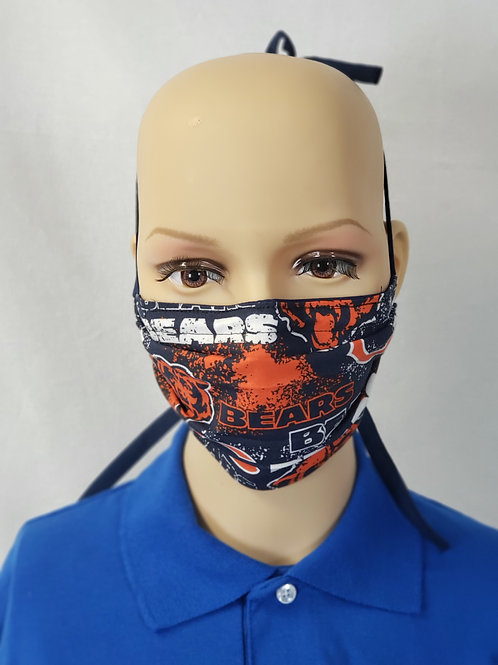 Cloth Face Covering made from Chicago Bears Fabric