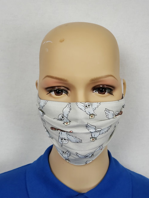 Cloth Face Covering made from Hedwig fabric
