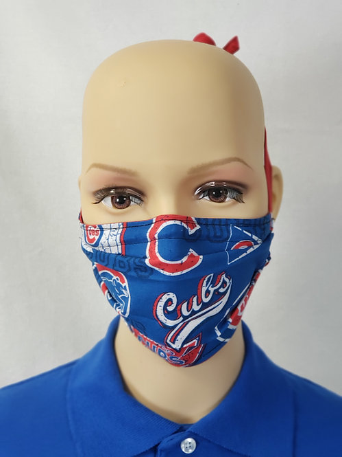 Cloth Face Covering made from Chicago Cubs fabric