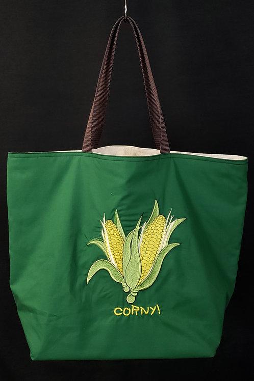 Corny Reusable Gusseted Market Bag