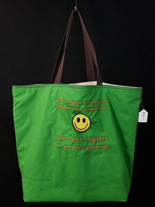 Love Your Neighbor Reusable Gusseted Market Bag