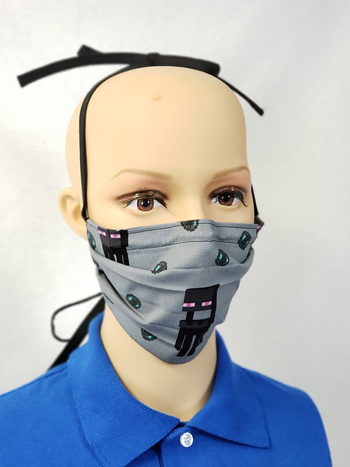 Cloth Face Covering made with Enderman fabric