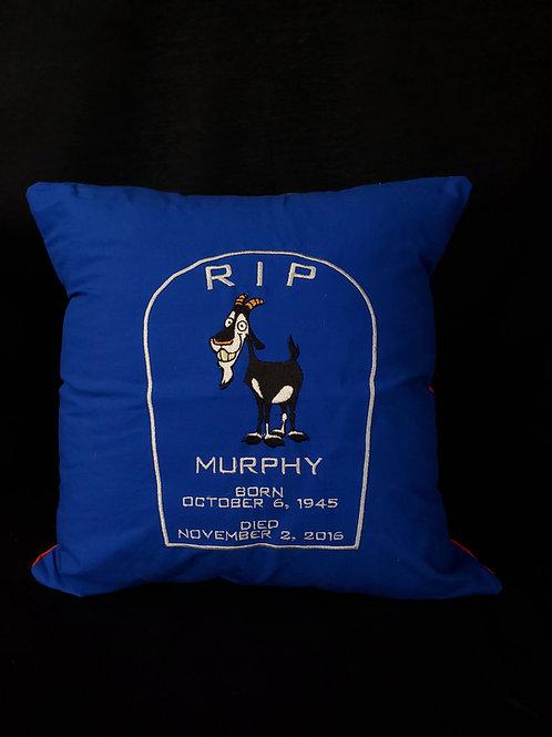 Red&Blue R.I.P. Murphy Pillow