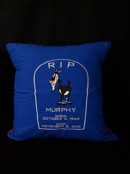 Red&Blue R.I.P. Murphy Pillow