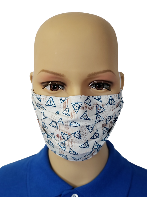 Cloth Face Covering made from Harry Potter Deathly Hallows fabric