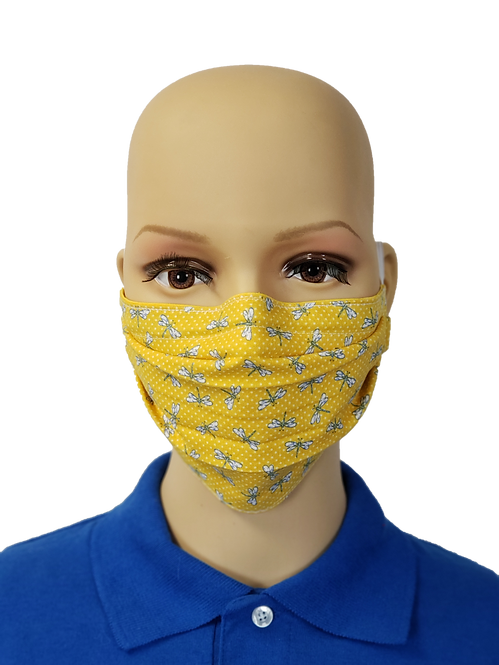Yellow Dragonflies Cloth Face Covering