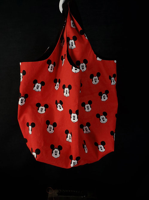 Reusable Shopping Bag Made from Mickey Mouse Fabric