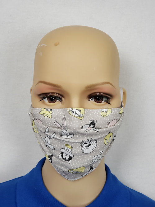 Cloth Face Covering made from Looney Tunes Polk Dot fabric