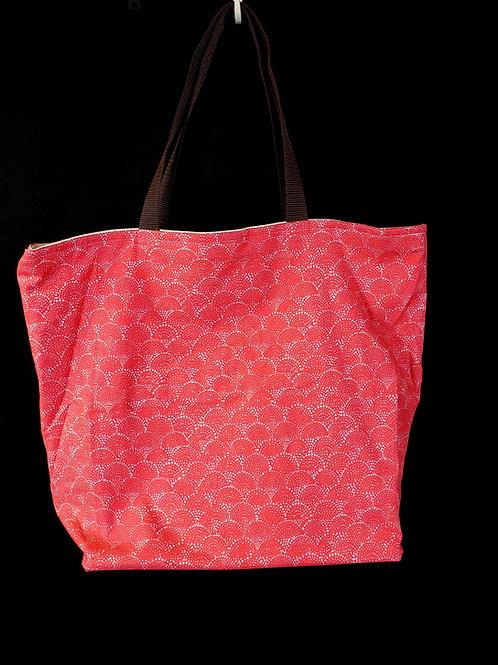 Coral Seashell Reusable Gusseted Market Bag