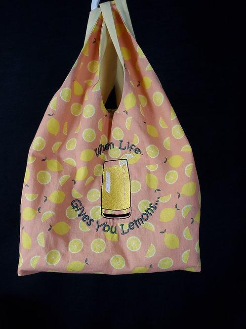 Life Lemons Reusable Shopping Bag