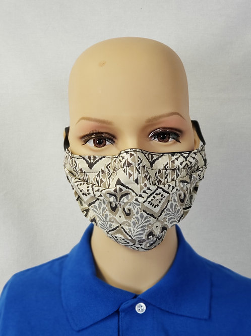 Tan Pattern Cloth Face Covering