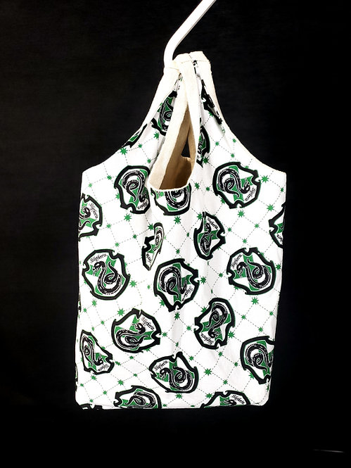 Reusable Shopping Bag made from Slytherin fabric