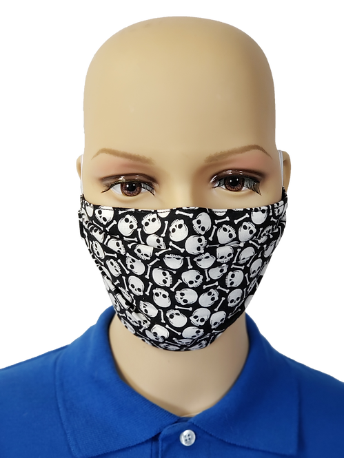 Skulls and Bones Cloth Face Covering