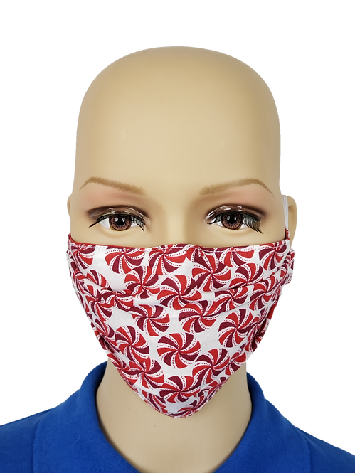Peppermint Swirls Cloth Face Covering