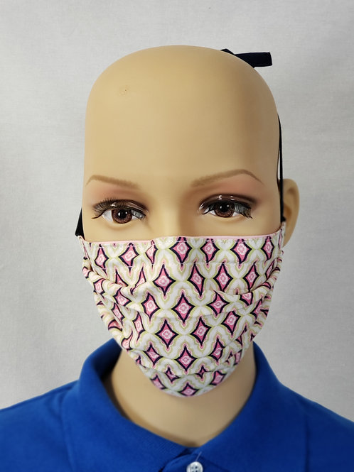 Pink Diamonds Cloth Face Covering