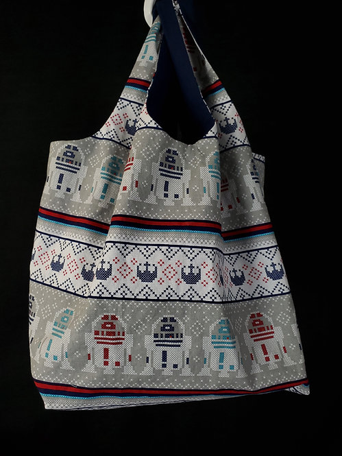Reusable Shopping Bag Made from R2 Cross Stitch Fabric