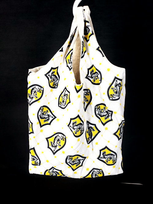 Reusable Shopping Bag made from Hufflepuff fabric