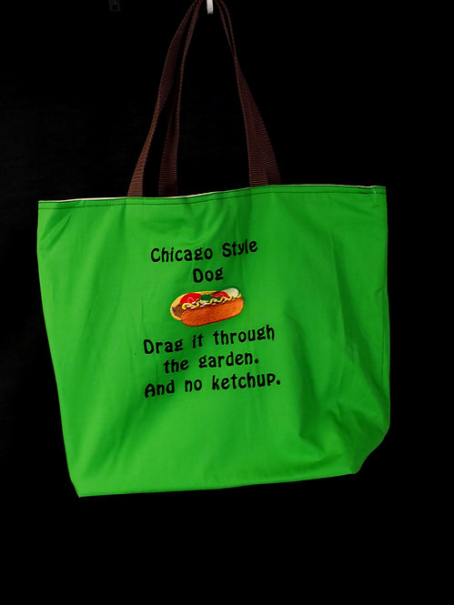 Chicago Style Dog Reusable Gusseted Market Bag