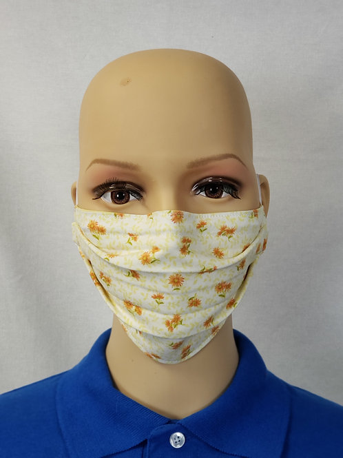 Orange Daisies Cloth Face Covering