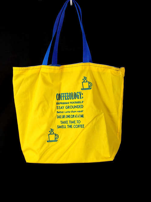 Coffeeology Reusable Gusseted Market Bag