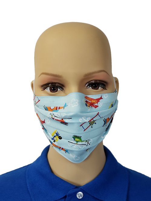 Cartoon Airplanes Cloth Face Covering