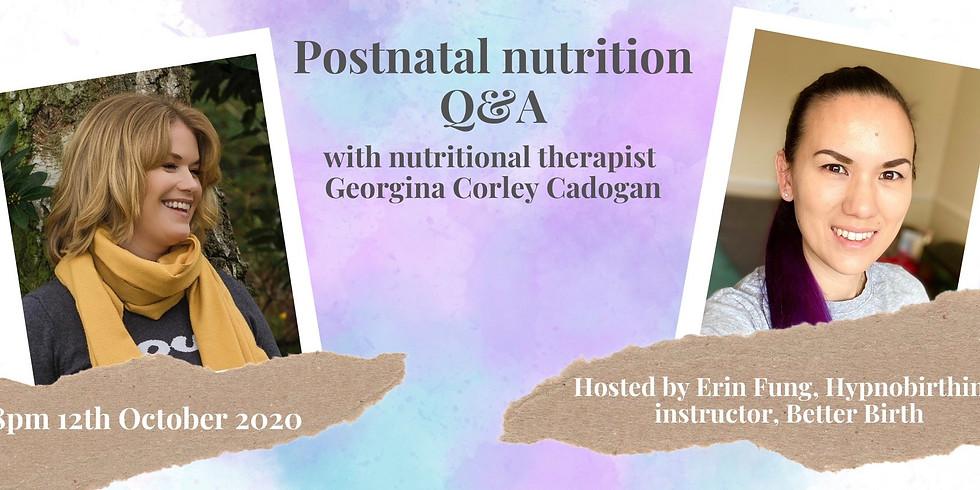 Postnatal nutrition with Georgina Corley Cadogan