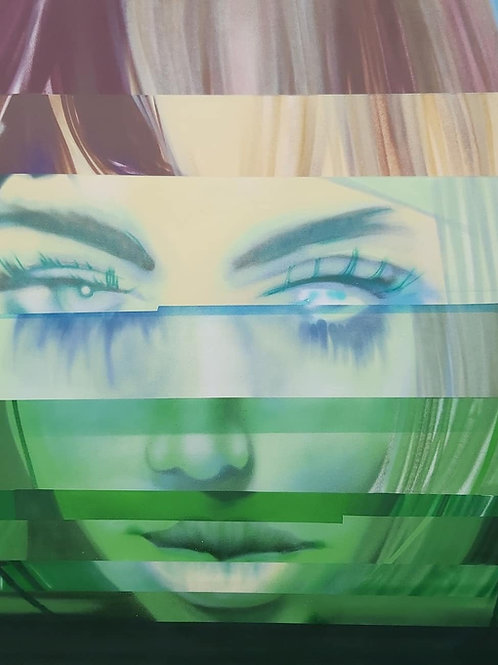 Green gaze glitch