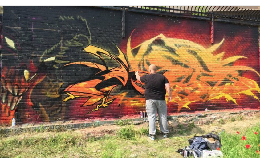 Upfest 2012.   Cost me & arm & a leg to get to do this piece!   Most expensive piece I've ever done!