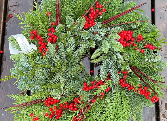 Berries and Branches Wreath Small