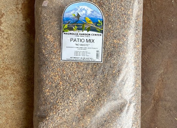 No Waste Patio Mix Bird Seed 20 lb.