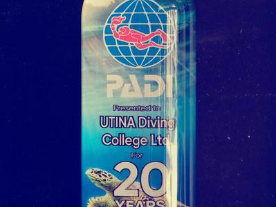 20th Anniversary for Utina & PADI