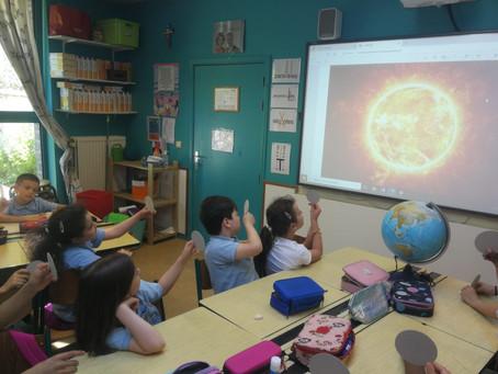 En 3C, nous travaillons le phénomène des éclipses.