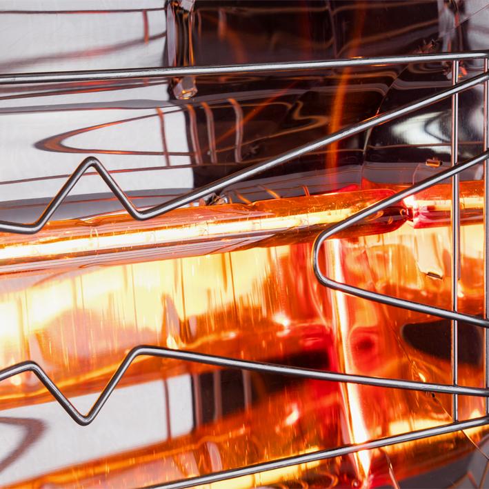 תנור אינפרא אדום מעוצב של וויליאם מר
