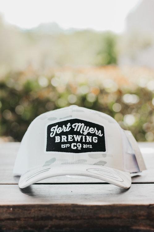 White Camo Richardson Patch Hat