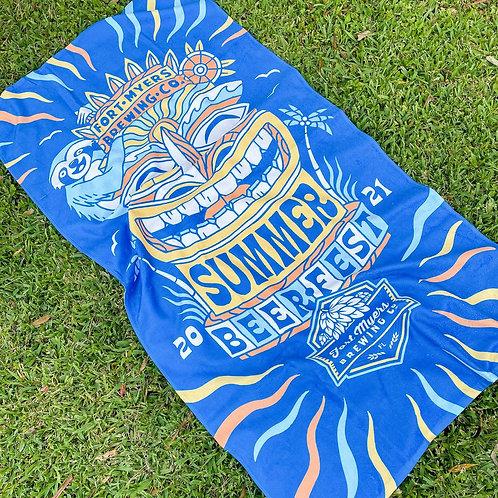Summer Beer Fest Beach Towel
