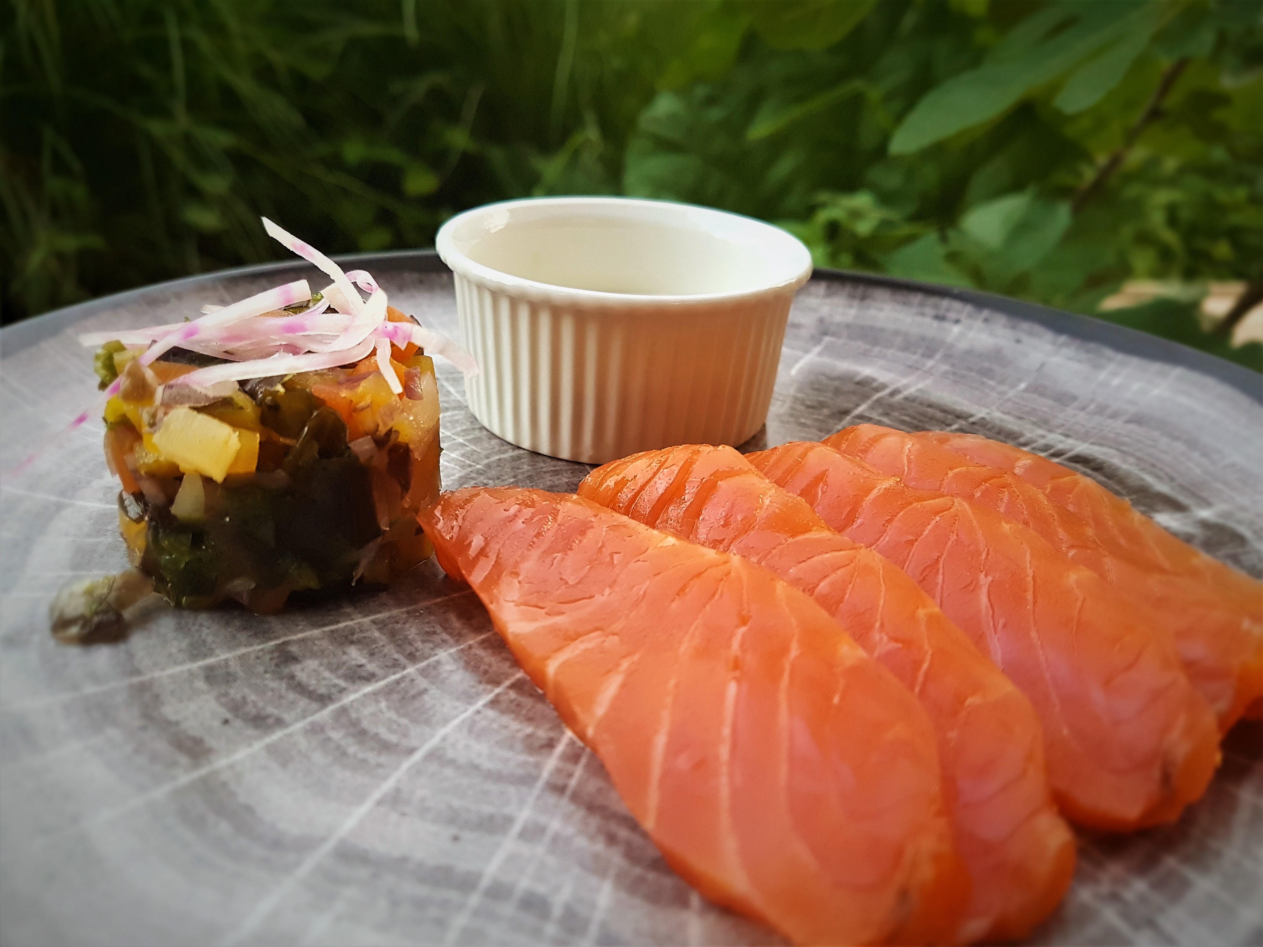 Dos de saumon fumé maison aux Etangs