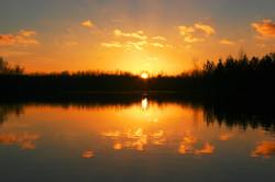 coucher du soleil aux Etangs de l'Ab